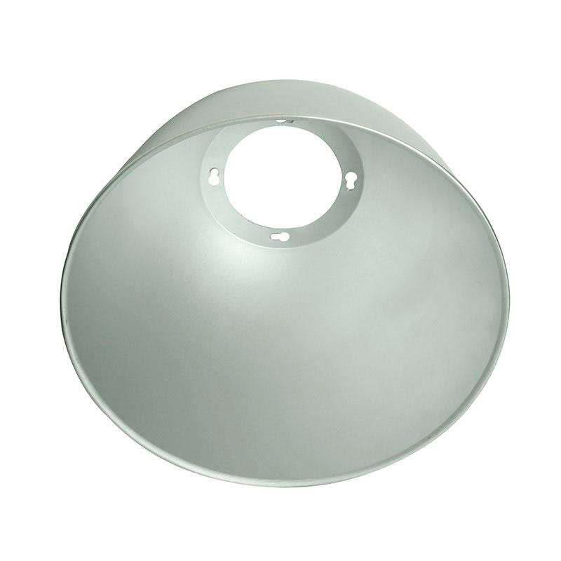 Reflector aluminio 45º para lámpara industrial, Ø142mm